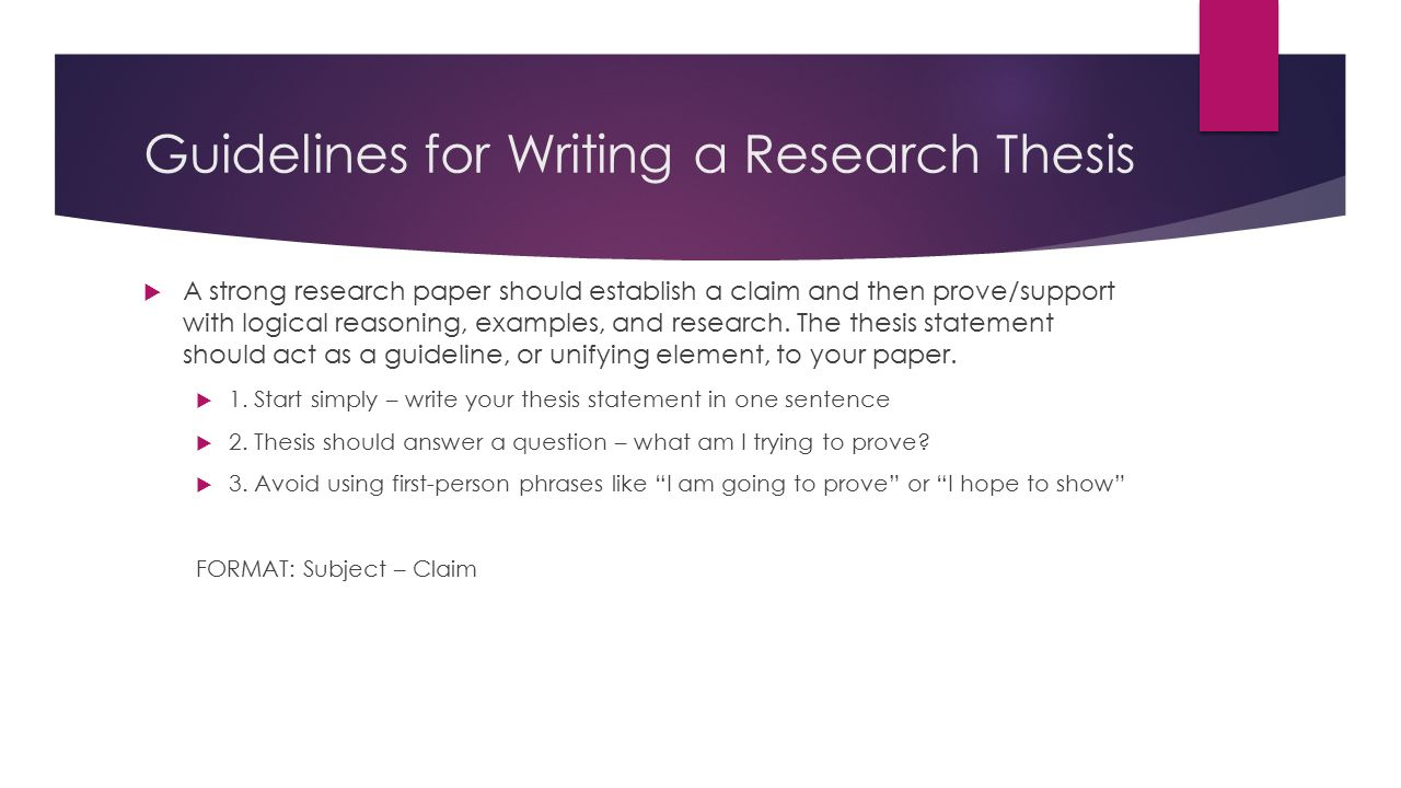 Thesis In Research Paper