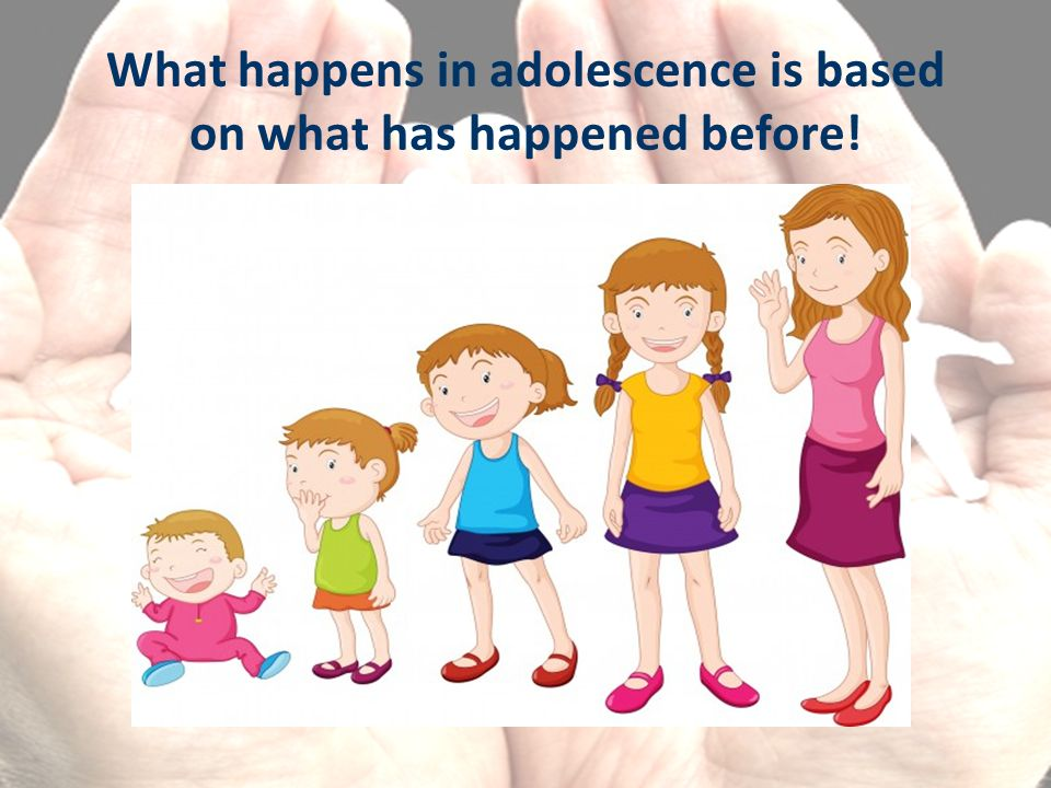 What happens in adolescence is based on what has happened before!