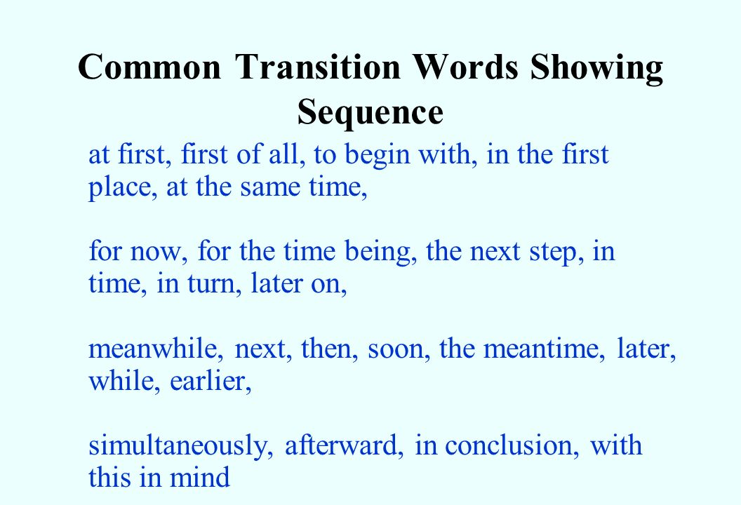 ideas about Transition Words And Phrases on Pinterest     Imhoff Custom Services