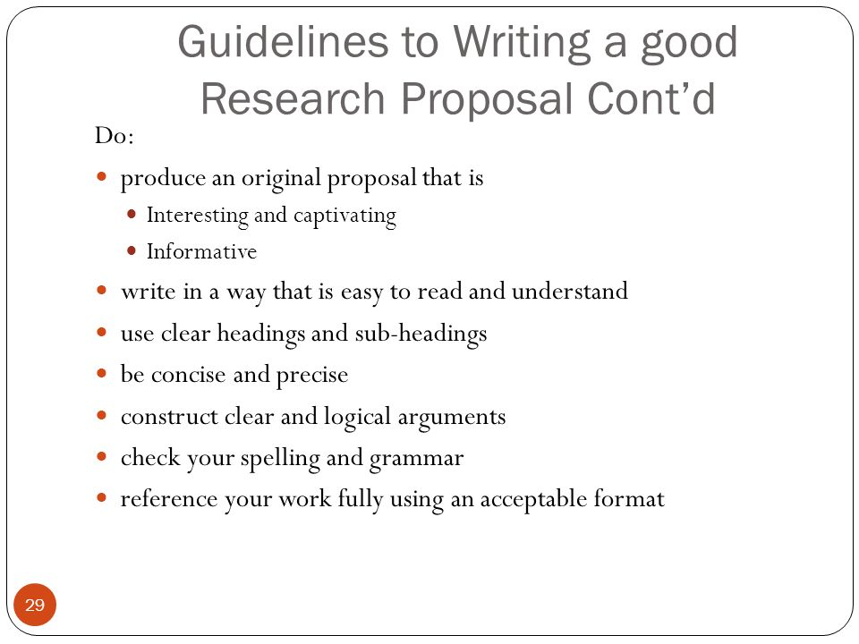 how to write good research proposal