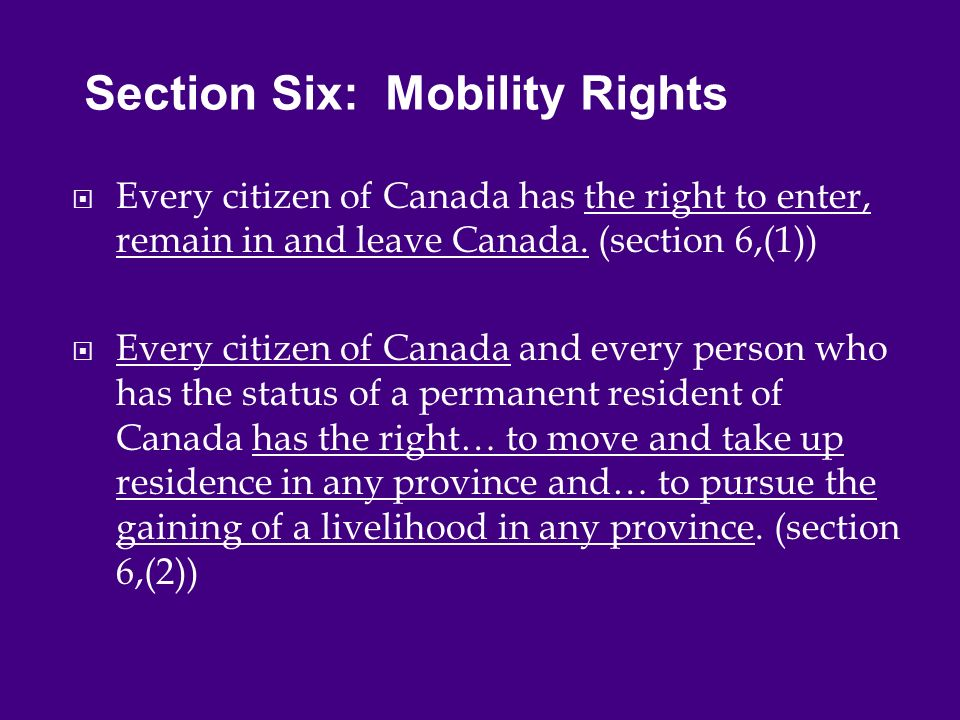  Every citizen of Canada has the right to enter, remain in and leave Canada.