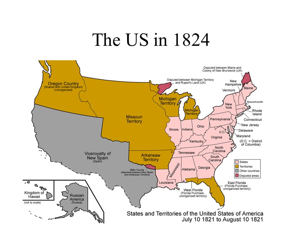 Jacksonian Democracy And The Second Party System Ppt Download - Us map 1824