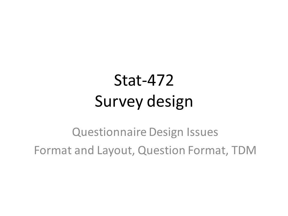 questionnaire format