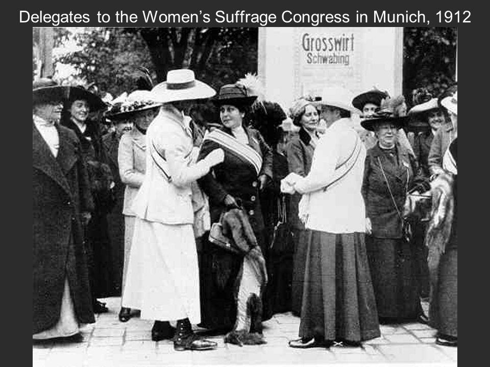 8 Delegates To The Womenu0027s Suffrage Congress In Munich, 1912
