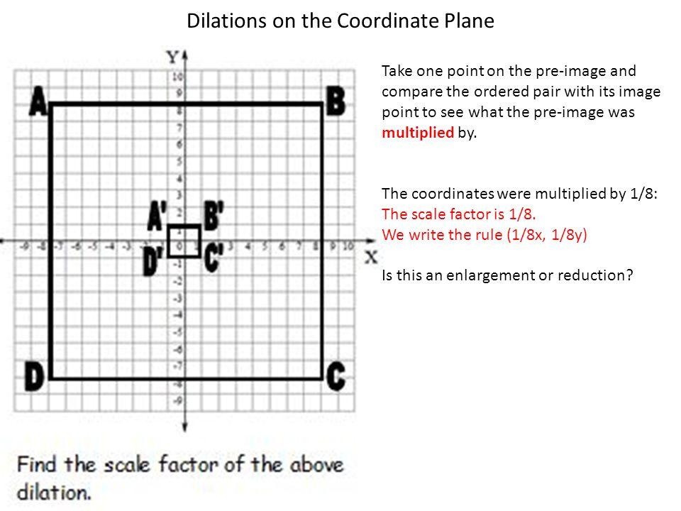 Dilations worksheet