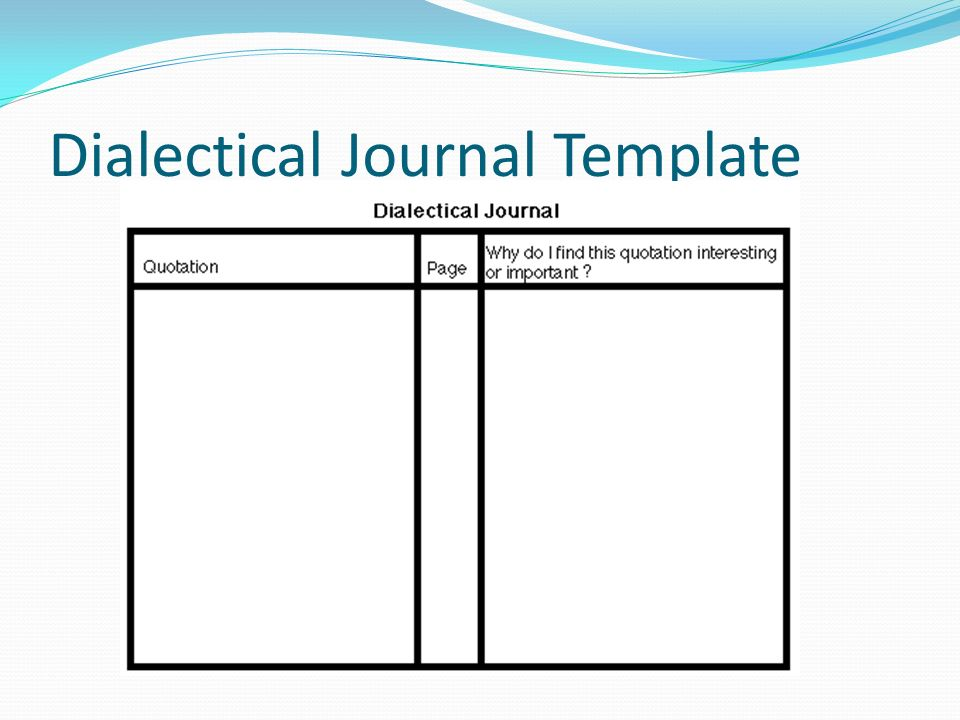 dialectical journals Search form search why ldc how ldc works you may know double-entry journals by another name, such as double-column notes, dialectical journals.