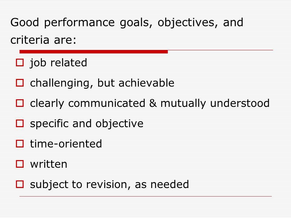 job related goals
