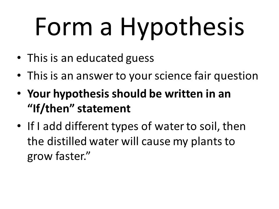 Science Fair The scientific method Ask a Question Do Background ...