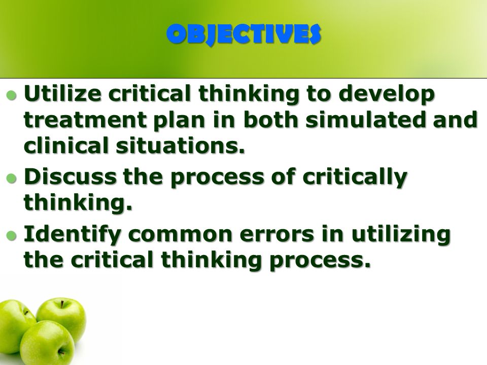 Critical Thinking in Nursing Education     JobTestPrep