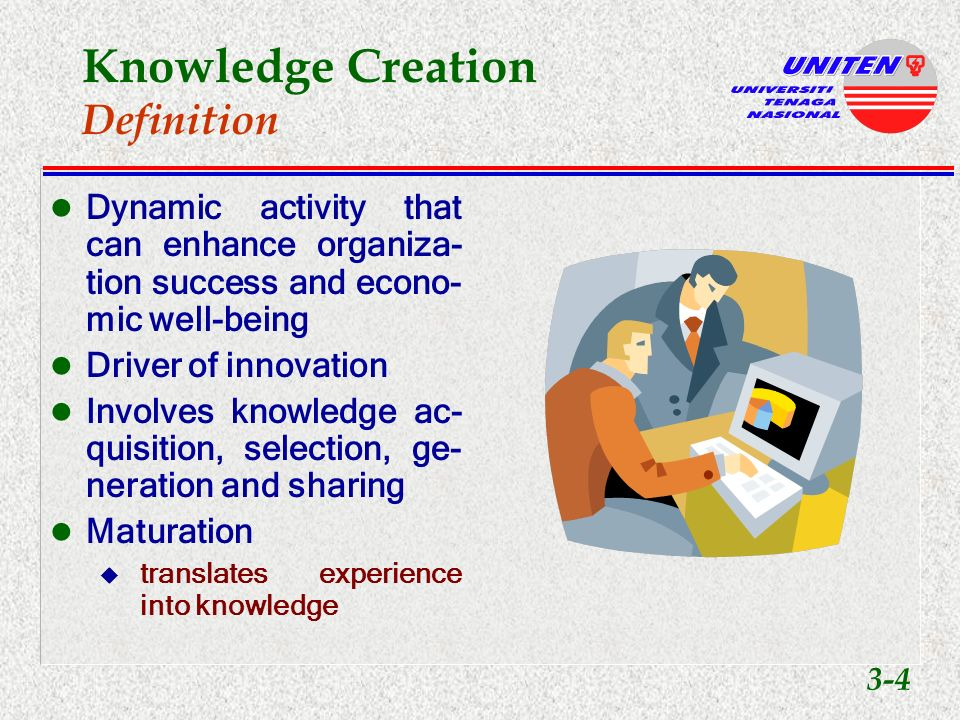 Knowledge Creation & KM Architecture Knowledge Creation and Sharing