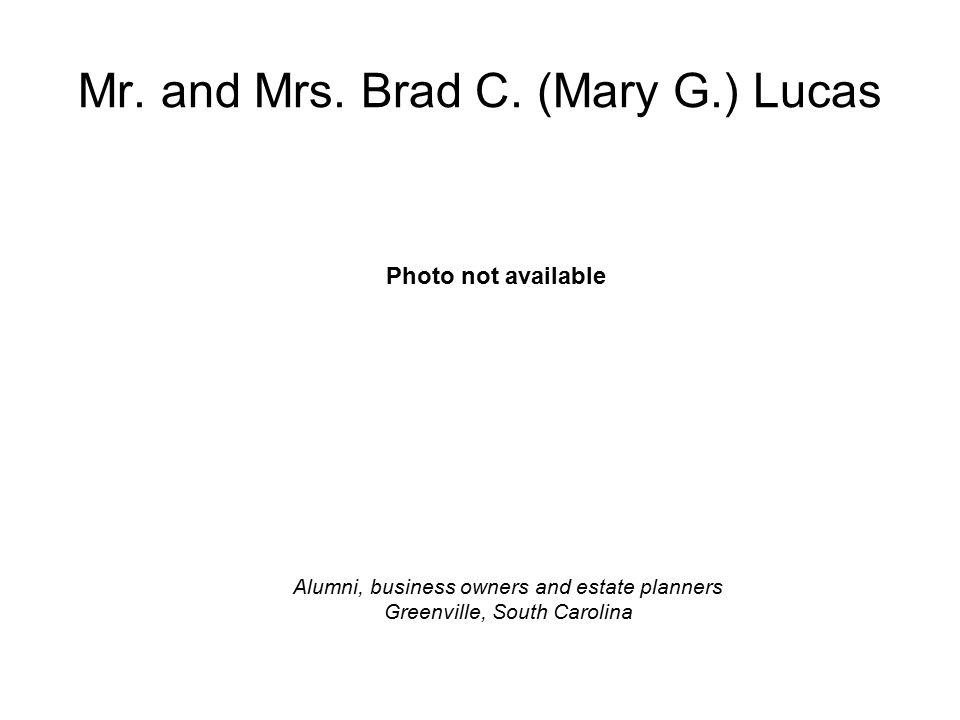 Mr. and Mrs. Brad C.