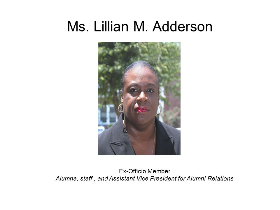 Ms. Lillian M.