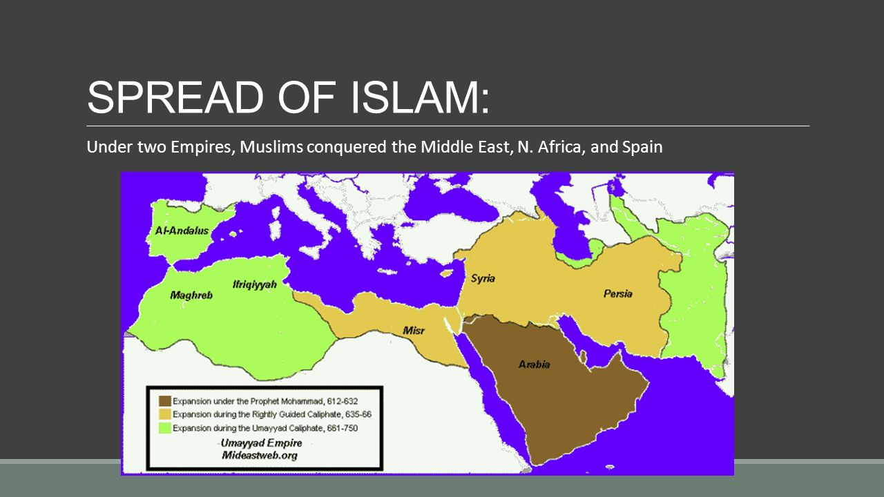spread of islam Compare and contrast the initial spread of islam throughout the mediterranean and the middle east with the islamic incursions into india and southeast asia.