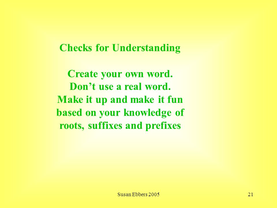 how to make up your own word
