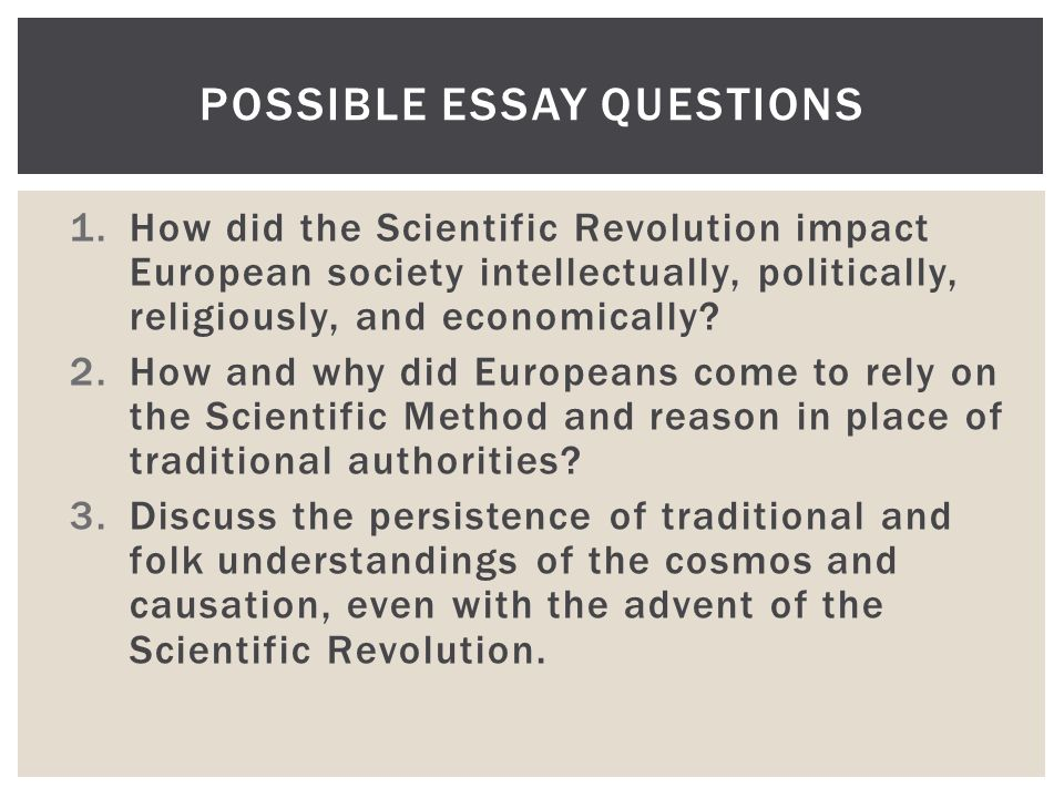 the influence of the scientific revolution on philosophy and religion essay The renaissance, which flowered first in italy and spread to much of western europe east of the pyrenees, saw a continuation of interest in the classical philosophy, mathematics, and natural.
