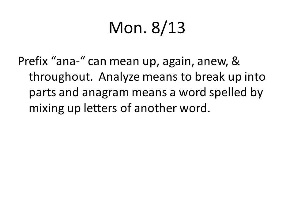 mon words