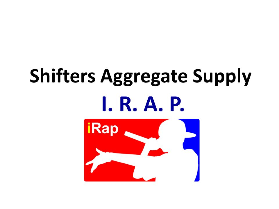Shifters Aggregate Supply I. R. A. P.