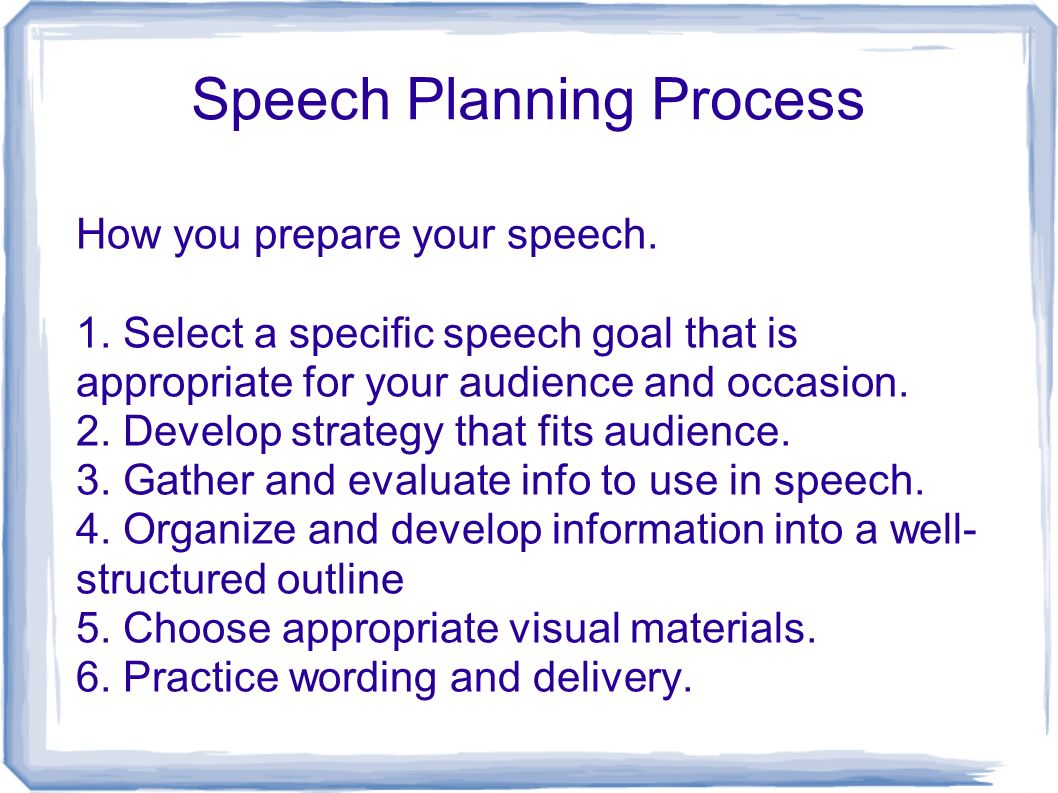 speech plan We used to plan our speech therapy sessions in grad school, but as soon as i graduated, i stopped planning i had too many other responsibilities.