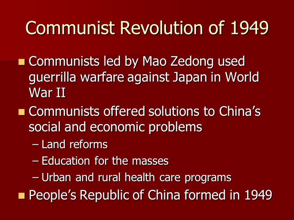 an overview of the causes and impact of the chinese communist revolution What is a quick summary of the chinese revolution quick summary chinese revolution: the peoples republic of china(communist china.