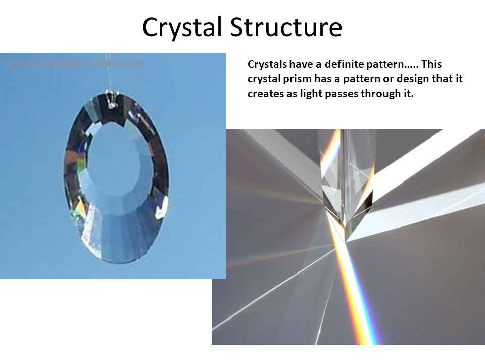 Crystals have a definite pattern…..