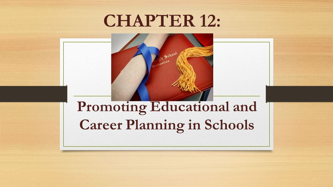 chapter  promoting educational and career planning in schools  chapter 12 promoting educational and career planning in schools