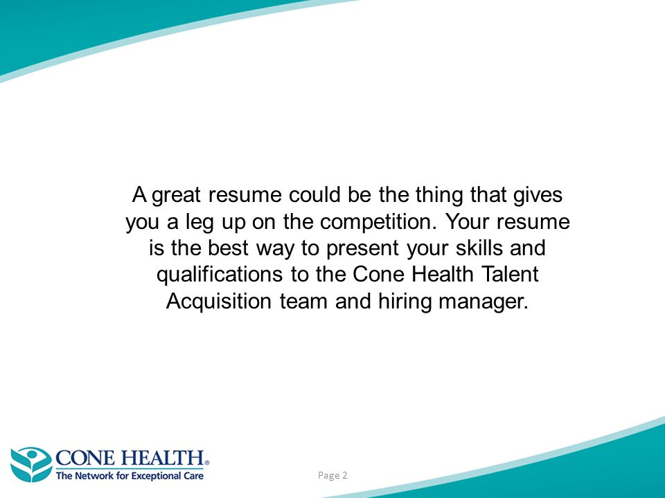 resume builder page 2 a great resume could be the thing that