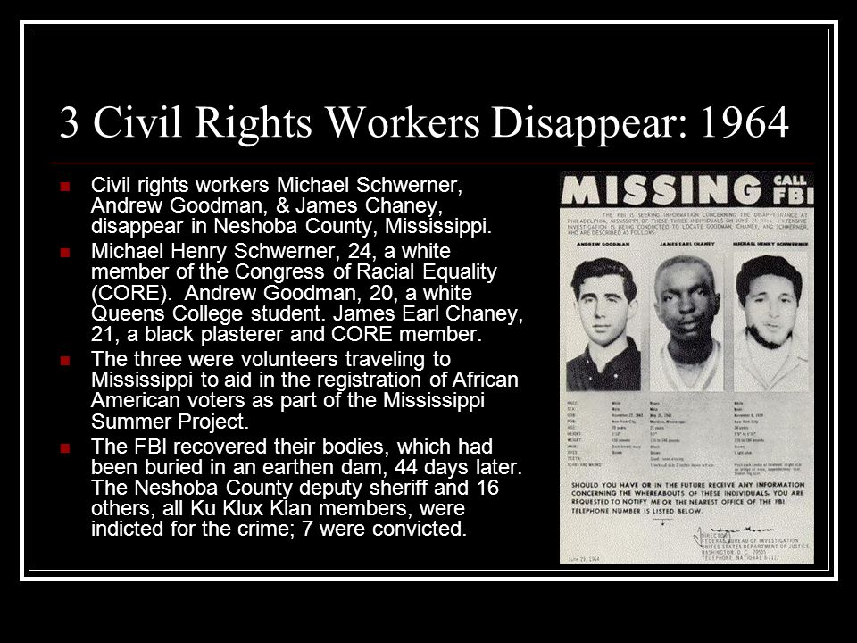Image result for three civil rights workers killed in mississippi in 1964