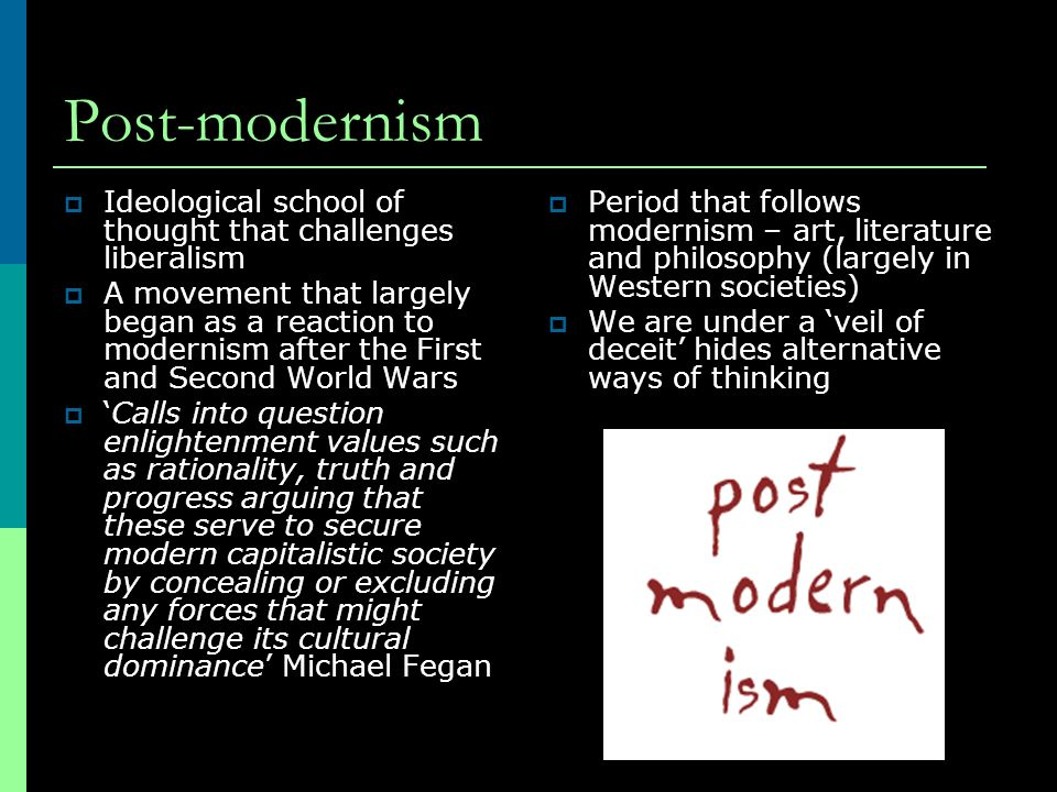 post modernism 2 what is postmodernism french postmodernist jean-françois lyotard famously claimed modernism's end symbolized by auschwitz, asking, where, after the.