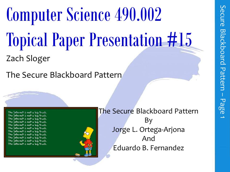 Paper presentation in computer science