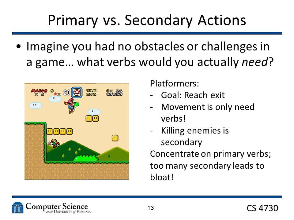 CS 4730 Primary vs.