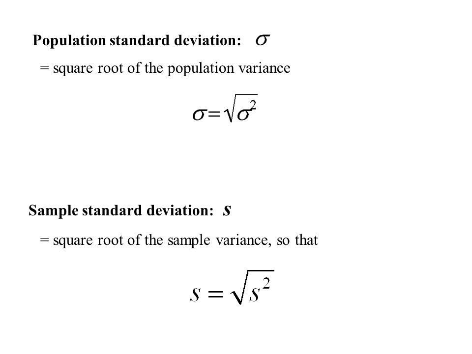Section  Measures Of Dispersion Range Variance Standard