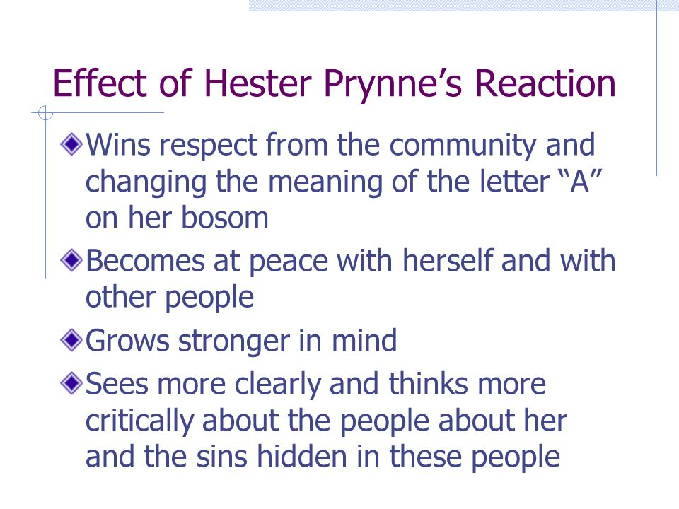 the effects and implications of sin the scarlet letter by nathaniel hawthorne