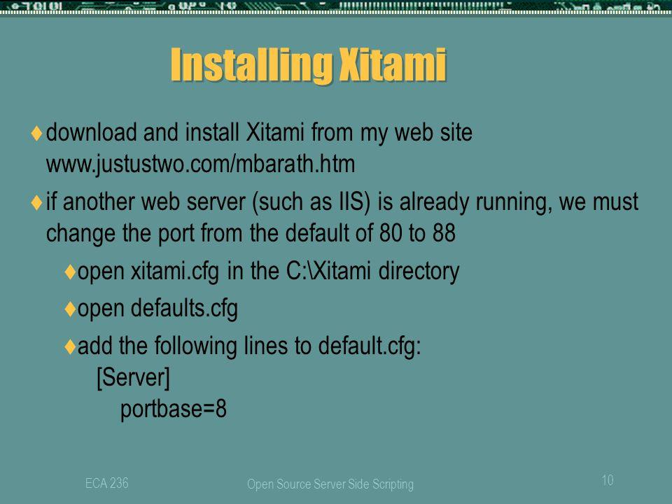 Сервер xitami скачать
