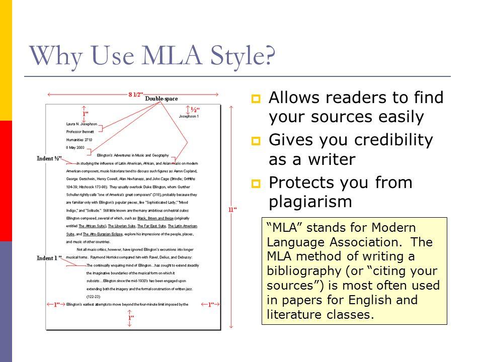 literature research paper mla format