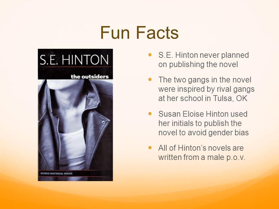a writing style analysis of s e hintons the outsiders