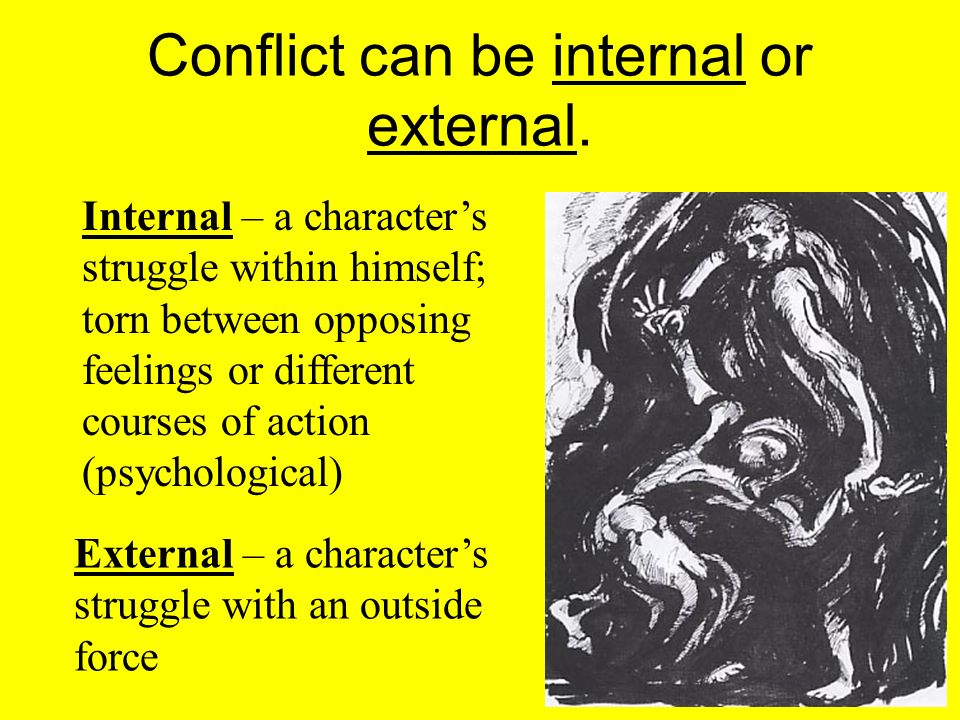 Conflict can be internal or external.