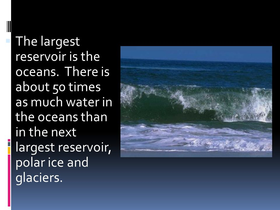 Water Storage in Oceans