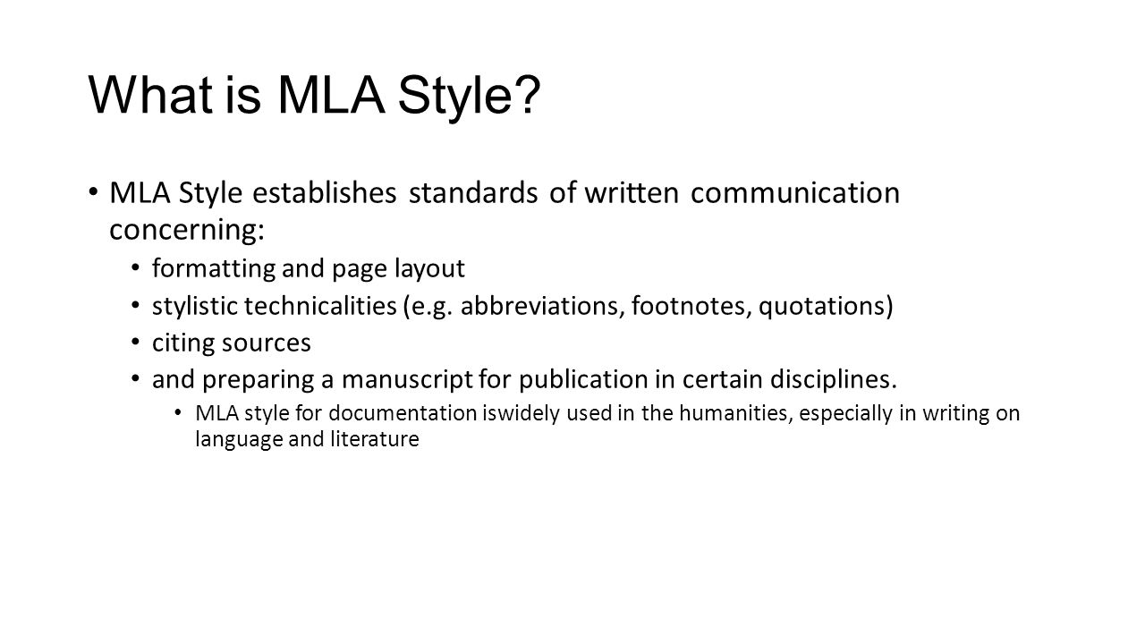 how to mla format