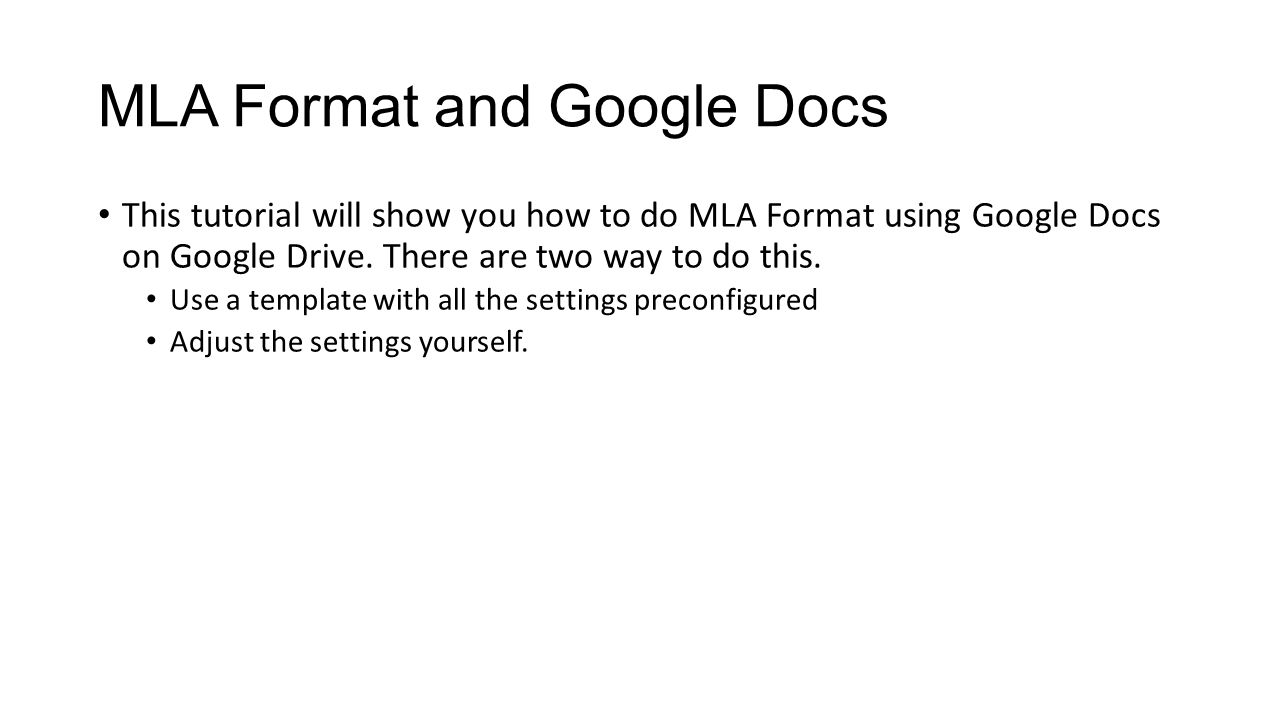 mla format pdf