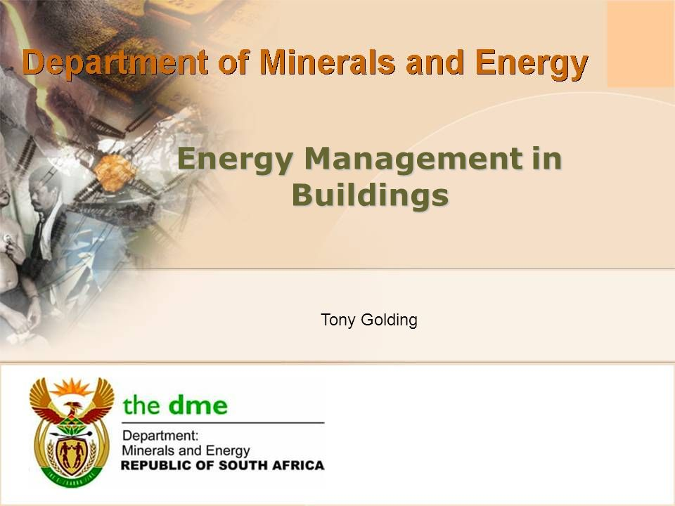 Energy Management in Buildings Tony Golding
