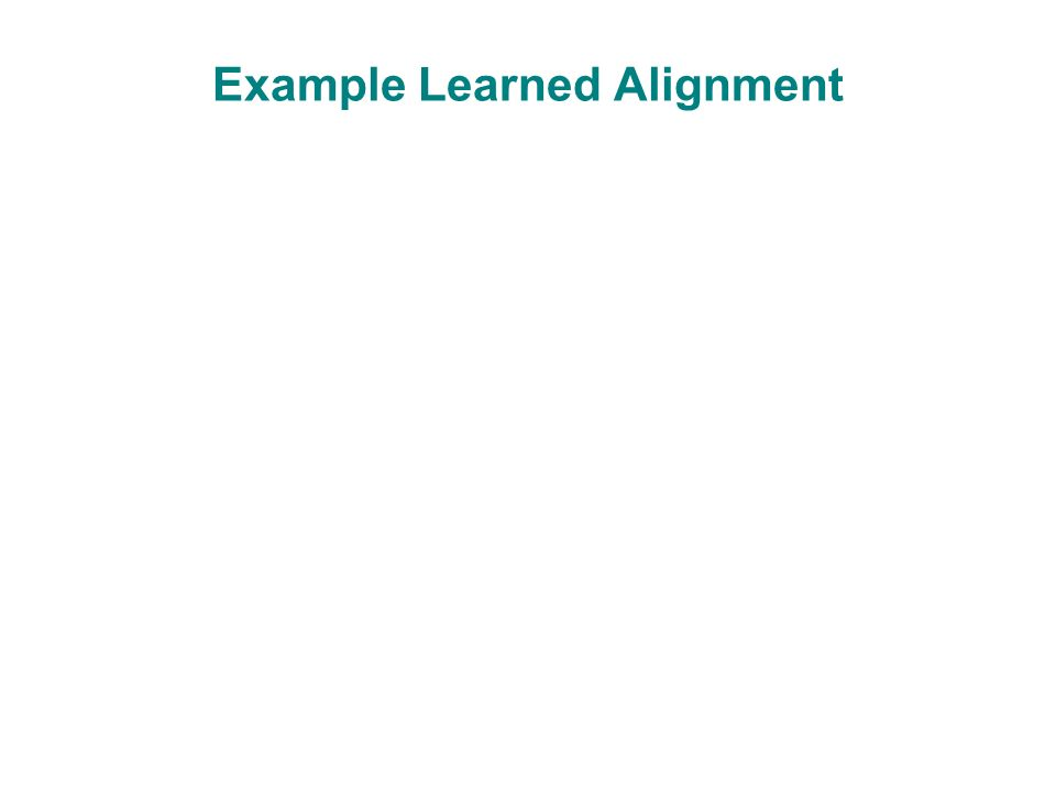 Example Learned Alignment