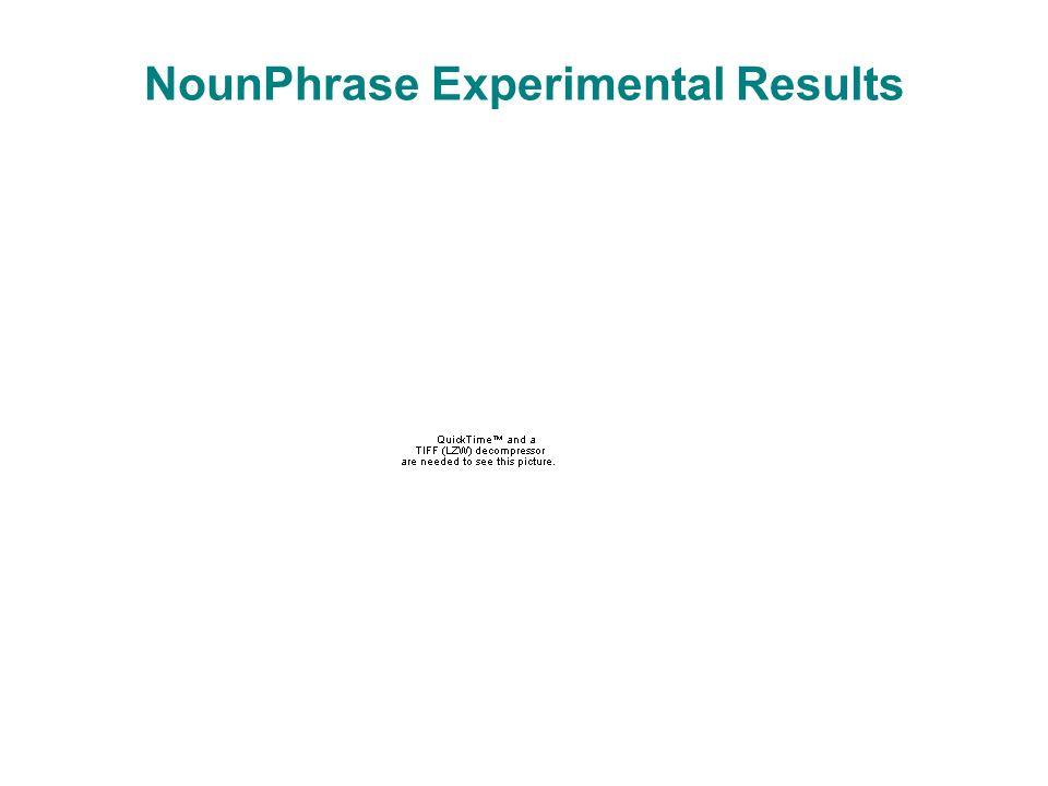 NounPhrase Experimental Results