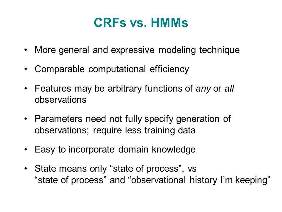 CRFs vs.