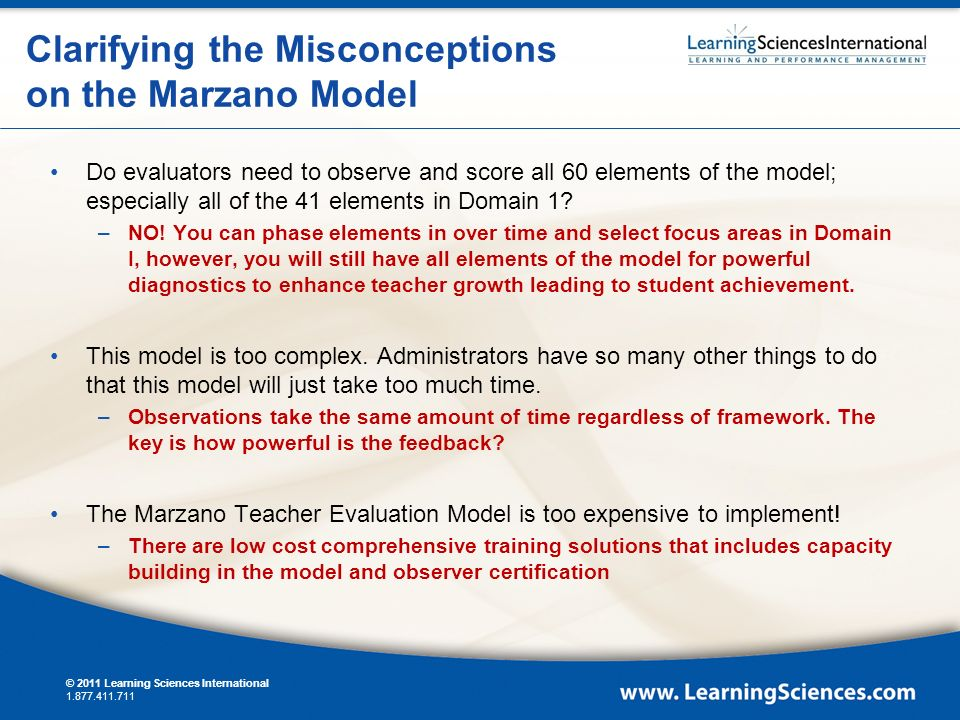 Marzano Causal Teacher Evaluation Model Based on the Art and ...
