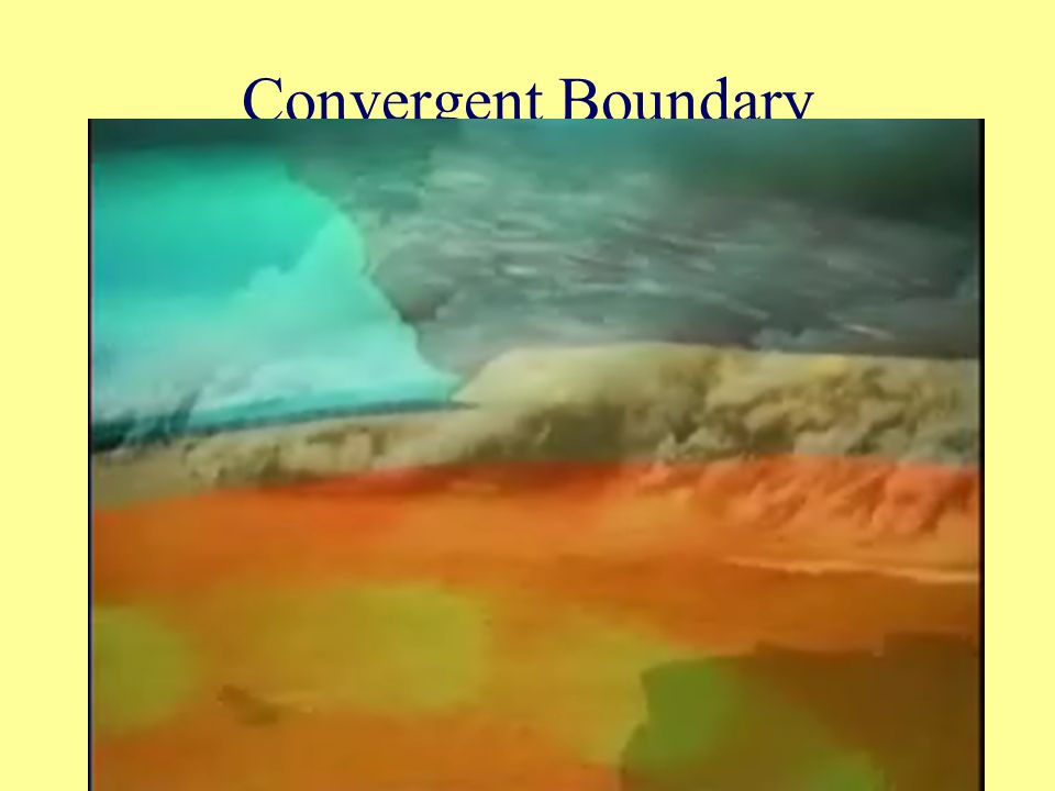 Convergent Boundary Convergent Boundary: Place where two plates come together or converge and collide.