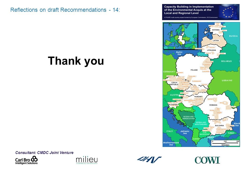 Consultant: CMDC Joint Venture Reflections on draft Recommendations - 14: Thank you