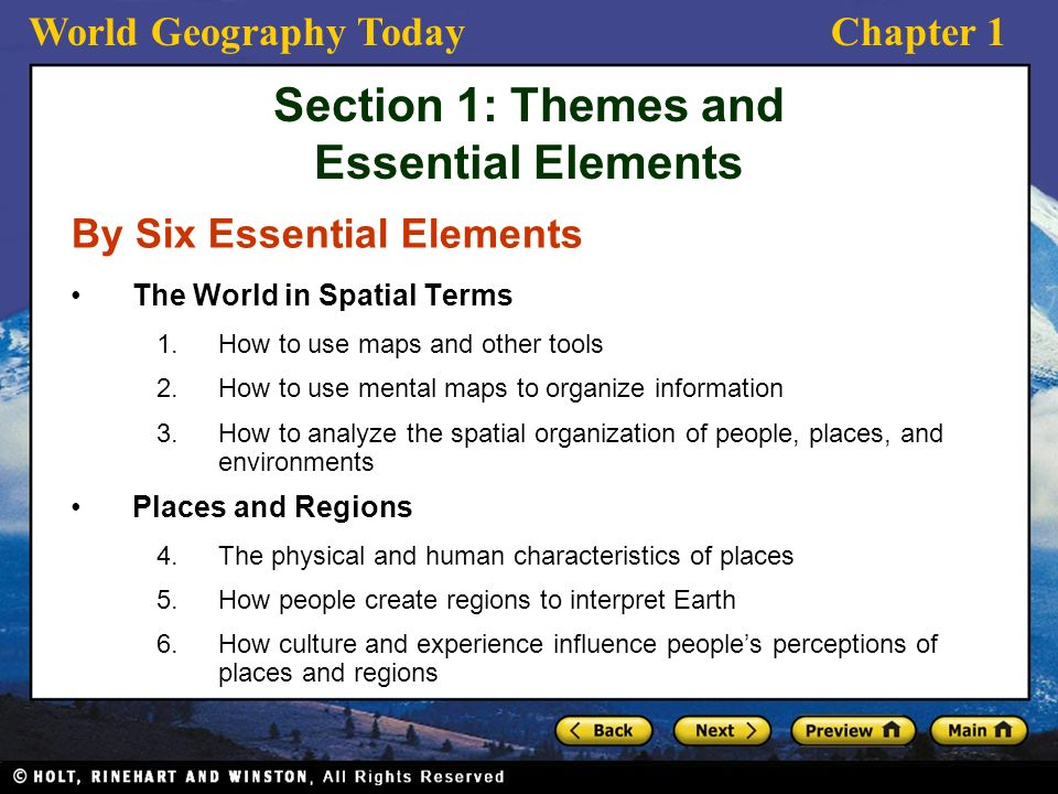 World Geography TodayChapter 1 Why Study Geography? w&feature ...