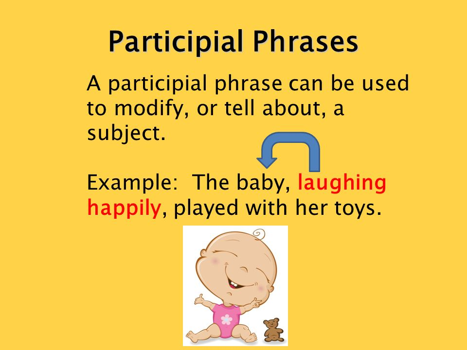 Use of participial phrases in American English