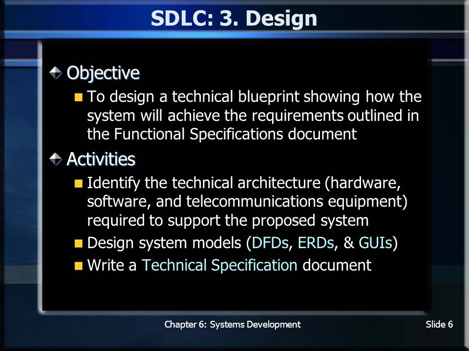 Chapter 6 systems development steps tools and techniques chapter 6 systems developmentslide 6 sdlc 3 malvernweather Gallery