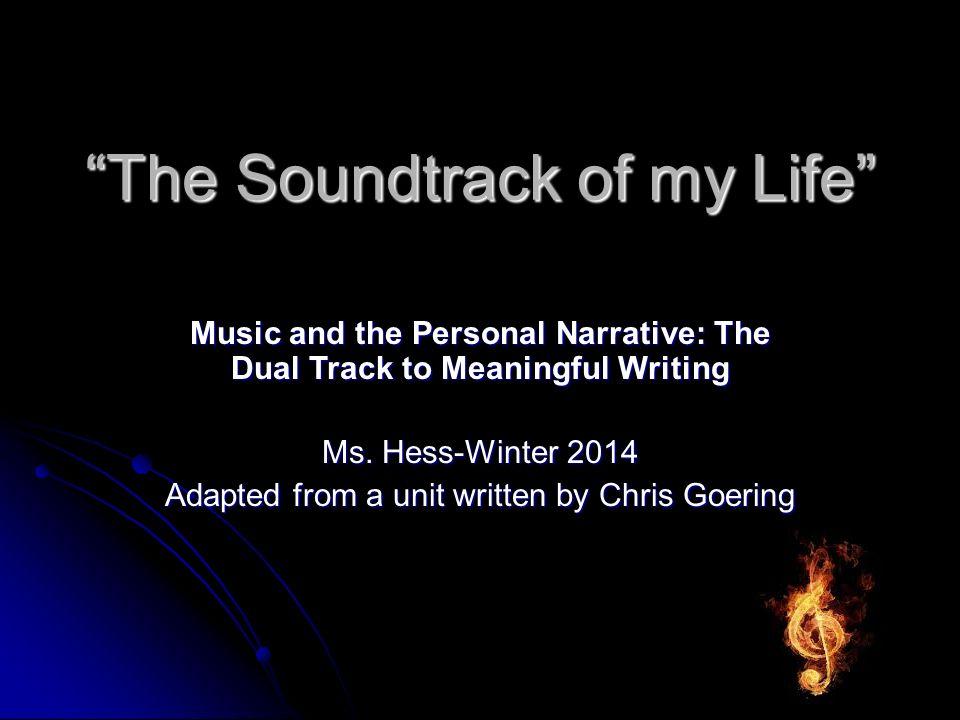 Soundtrack of my life?